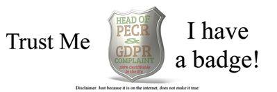 Sample GDPR badge 1st April 2019