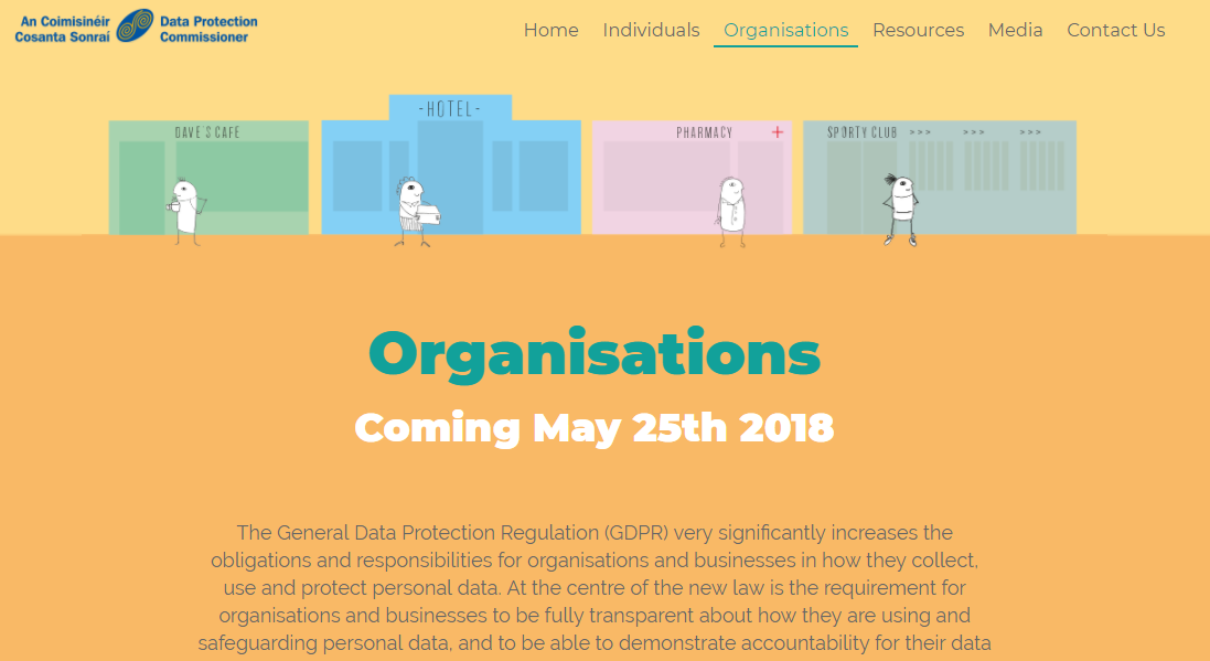 Screen shot of the GDPR and you website